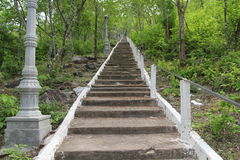 Stairway(Up). A Stairway (412 steps)leading to the top of Phnom Chiso mountain/Prasat Phnom Chiso temple. This is one of the national and international tourist Royalty Free Stock Images