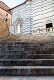 Stairway Up to Cathedral of Siena Royalty Free Stock Image