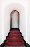 Stairway vermelho foto de stock royalty free
