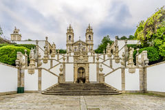 Stairway Via Sacra and church of Bom Jesus do Monte in Tenoes near Braga - Portugal Stock Photos