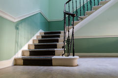 Stairway in vintage historic apartment house in Edinburgh in day Stock Image
