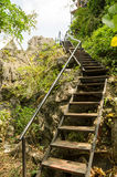 Stairway Walks on the uphill Stock Photo