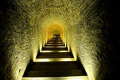 Stairway of a cellar Royalty Free Stock Photos
