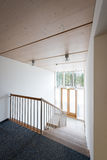 Stairway in wooden office building Stock Photos