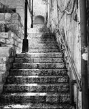 Stairway in Zefat. An empty stone stairway in the historical section of Zefat, Israel. Zefat (or Safed or Tzfat) has been considered one of Judaism's Four Holy Stock Photo