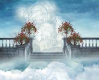 Stairways ao céu ilustração royalty free
