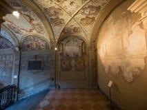 Stairways of Archiginnasio  in Bologna Stock Photo