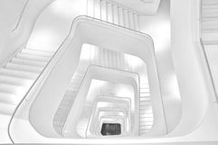 Stairways in black and white Royalty Free Stock Image