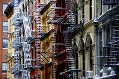 Stairways do escape de incêndio em New York fotografia de stock royalty free