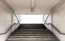 Stairways for entrance stadium with railing on white background Royalty Free Stock Photography
