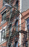 Stairways exteriores do ferro no Greenwich Village, NYC imagem de stock royalty free