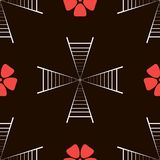Stairways and flowers Pattern Stock Photography