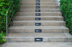 Stairways with the garden Royalty Free Stock Photos