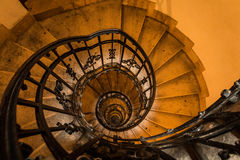 Stairways going up to the top of the dome of Basilica in Budapest Royalty Free Stock Images