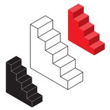 Stairways illustration. Isometric vector illustration