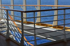 Stairways. Overlooking the ocean from the stairways on a cruise ship Royalty Free Stock Photography
