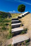 Stairways to the sky-2. Stone stairs on a hill Stock Images