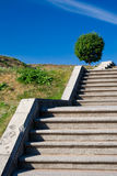 Stairways to the sky-3. Stone stairs on a hill Stock Images