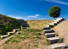 Stairways to the sky-4. Stone stairs on a hill Royalty Free Stock Image