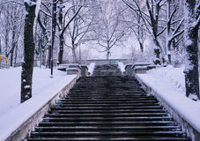 Stairways to winter Royalty Free Stock Images