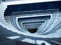 Stairwell as Modern art in Funchal on the Island of Madiera Royalty Free Stock Photography