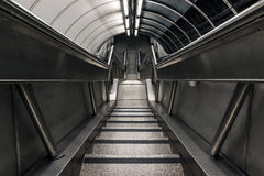 Stairwell Descending To A Underground Tunnel Stock Photo