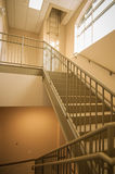 Stairwell and emergency exit in building Stock Images