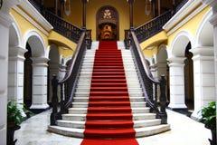 Stairwell i slott Arkivbild