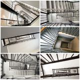 Stairwell inside old building collage. A Stairwell inside old building collage Royalty Free Stock Image