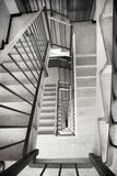 Stairwell inside old building. A Stairwell inside old building Royalty Free Stock Photos