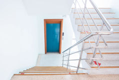 Stairwell in a modern building royalty free stock photo