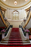 Stairwell in palace. Stairwell in the Polish palace. An old architecture Royalty Free Stock Photography