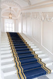 Stairwell in the Polish palace. Royalty Free Stock Photos