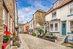 Staithes в Йоркшире Англии стоковая фотография rf