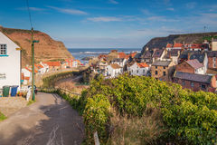 Staithes Beck winds through the Village royalty free stock photography