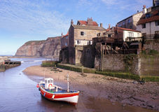 Staithes, côte de Yorkshire Image stock