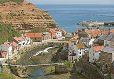 Staithes from Cow Bar. royalty free stock photo