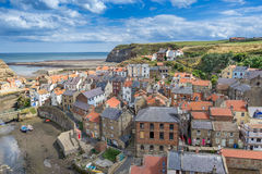 Staithes dans Yorkshire Angleterre Photographie stock
