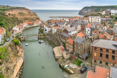 Staithes em Yorkshire Inglaterra foto de stock royalty free