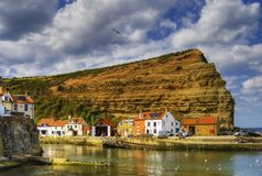Staithes harbor Royalty Free Stock Images