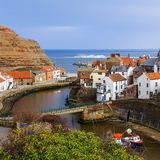Staithes Harbour Royalty Free Stock Photography