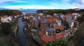Staithes by, North Yorkshire royaltyfria foton