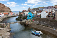 STAITHES, NORTH YORKSHIRE/UK - AUGUST 21 : High angle view of St Royalty Free Stock Images