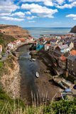 STAITHES, NORTH YORKSHIRE/UK - AUGUST 21 : High angle view of St Stock Photos