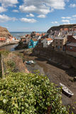 STAITHES, NORTH YORKSHIRE/UK - AUGUST 21 : High angle view of St Royalty Free Stock Photos