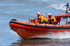 STAITHES, NORTH YORKSHIRE/UK - AUGUST 21 : RNLI lifeboat display Royalty Free Stock Photos