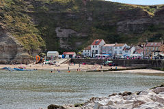 STAITHES, NORTH YORKSHIRE/UK - AUGUST 21 : View of Staithes Nort Stock Photo