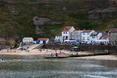 STAITHES, NORTH YORKSHIRE/UK - AUGUST 21 : View of Staithes Nort Stock Image