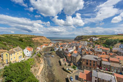 Staithes w Yorkshire Anglia Obrazy Stock
