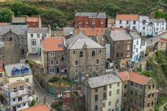 Staithes in Yorkshire England Stockfotos
